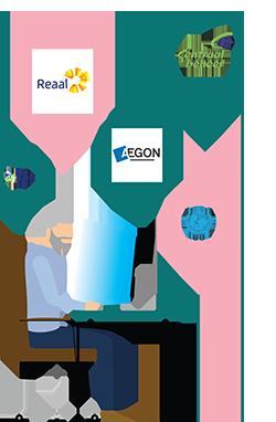 Illustratie selecteren relevante organisaties
